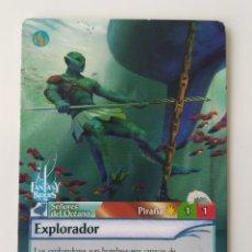 Trading Cards: N° 253 FANTASY RIDERS. EXPLORADOR. SEÑORES DEL OCÉANO.. Lote 178955820