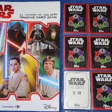 Trading Cards: STAR WARS - EL CAMINO DE LOS JEDI - TOPPS - CARREFOUR ¡COMPLETA E IMPECABLE!. Lote 179234388