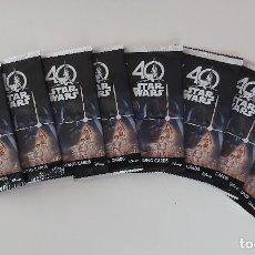 Trading Cards: STAR WARS 40TH ANNIVERSARY CARDS - 8 PAQUETES DE 4 CARTAS NUEVOS SIN ABRIR. Lote 181863980