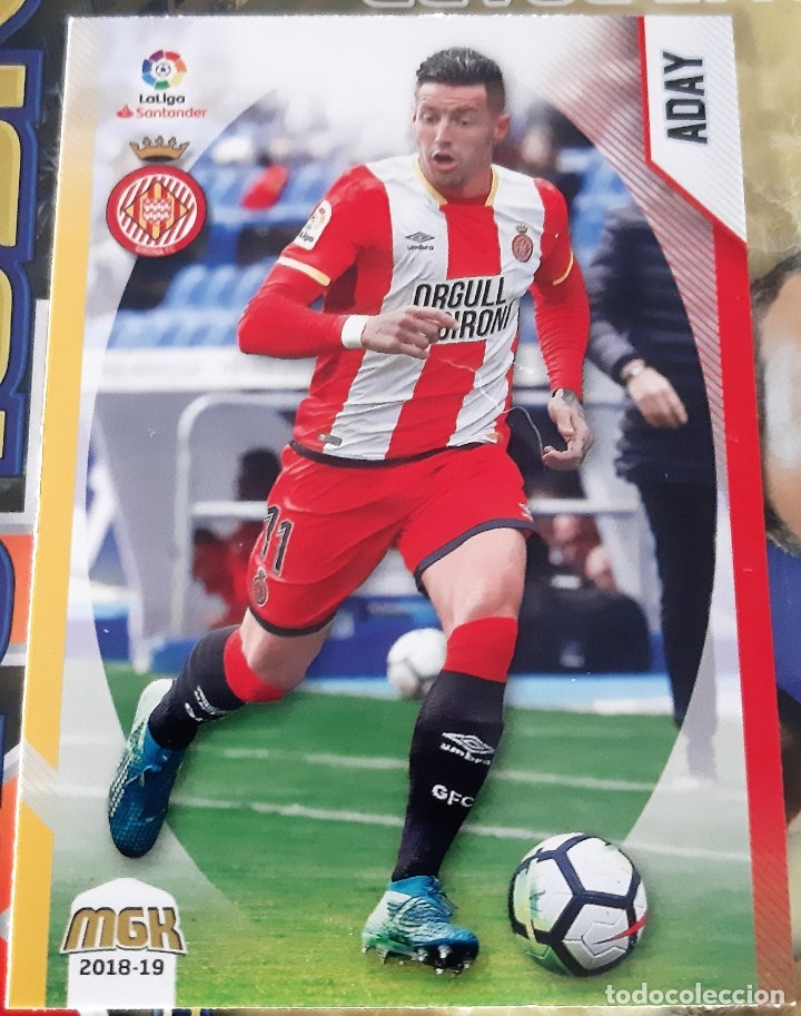 CARD PANINI MEGACRACKS MGK ADAY GIRONA (Coleccionismo - Cromos y Álbumes - Trading Cards)