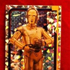 Trading Cards: RUMBO A STAR WARS LOS ULTIMOS JEDI Nº 176 C-3PO REFLEJOS BRILLANTES. Lote 183011620