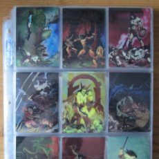 Trading Cards: CONAN II ALL CHROMIUM - SET BASE - PROMO - ESPECIALES - 37 CARD VARIANTES - POSTER - CARD FIRMADA . Lote 186135940