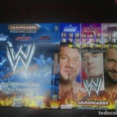 Trading Cards: PORTADAS ORIGINALES NUEVAS WWE PRESSING CATCH LAMINCARDS. Lote 186150307