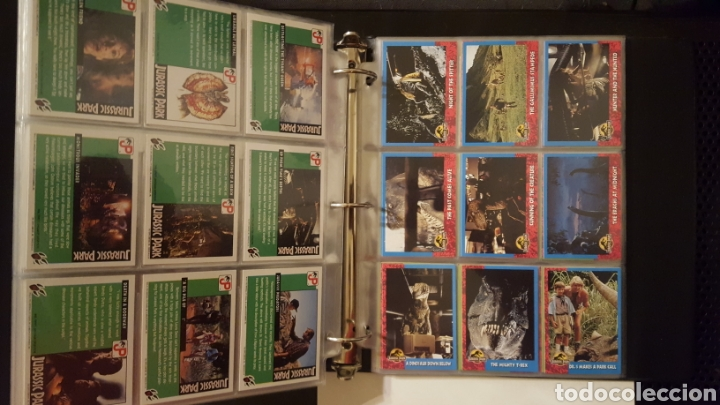 Trading Cards: Trading cards - Jurassic Park - Con especiales, promos hologramas y carpeta binder - Topps - 1993 - Foto 12 - 186153426