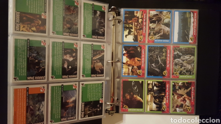 Trading Cards: Trading cards - Jurassic Park - Con especiales, promos hologramas y carpeta binder - Topps - 1993 - Foto 13 - 186153426