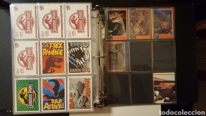 Trading Cards: Trading cards - Jurassic Park - Con especiales, promos hologramas y carpeta binder - Topps - 1993 - Foto 21 - 186153426