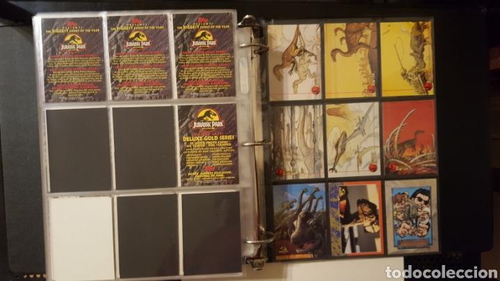 Trading Cards: Trading cards - Jurassic Park - Con especiales, promos hologramas y carpeta binder - Topps - 1993 - Foto 22 - 186153426