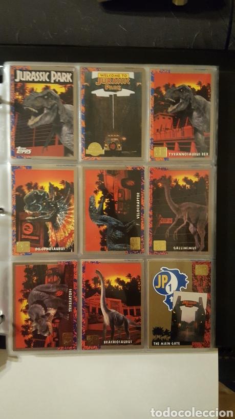 TRADING CARDS - JURASSIC PARK - CON ESPECIALES, PROMOS HOLOGRAMAS Y CARPETA BINDER - TOPPS - 1993 (Coleccionismo - Cromos y Álbumes - Trading Cards)