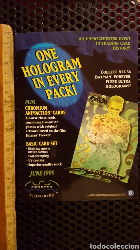 Trading Cards: Trading card - Batman forever Fleer ultra - uncut sheet - Promo - 1995 - Foto 2 - 186178127