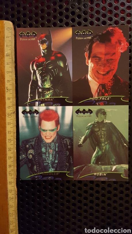 TRADING CARD - BATMAN FOREVER FLEER ULTRA - UNCUT SHEET - PROMO - 1995 (Coleccionismo - Cromos y Álbumes - Trading Cards)