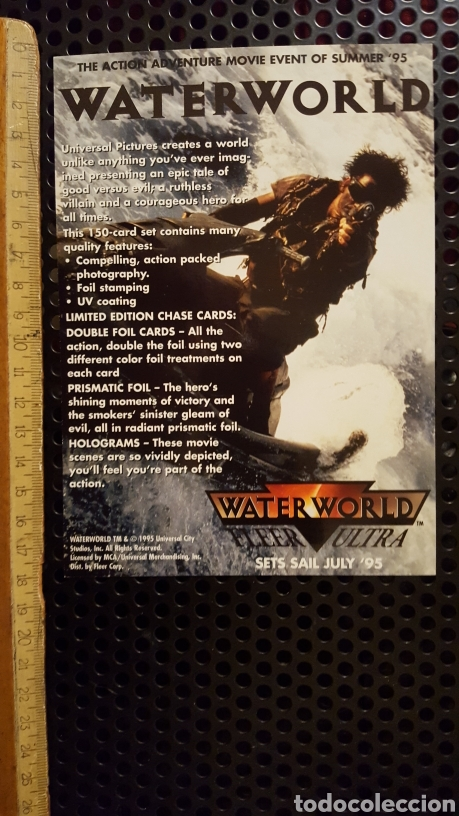 Trading Cards: Trading card - Waterworld Fleer Ultra - uncut sheet - Promo - 1995 - Kevin Costner - Foto 2 - 186179046