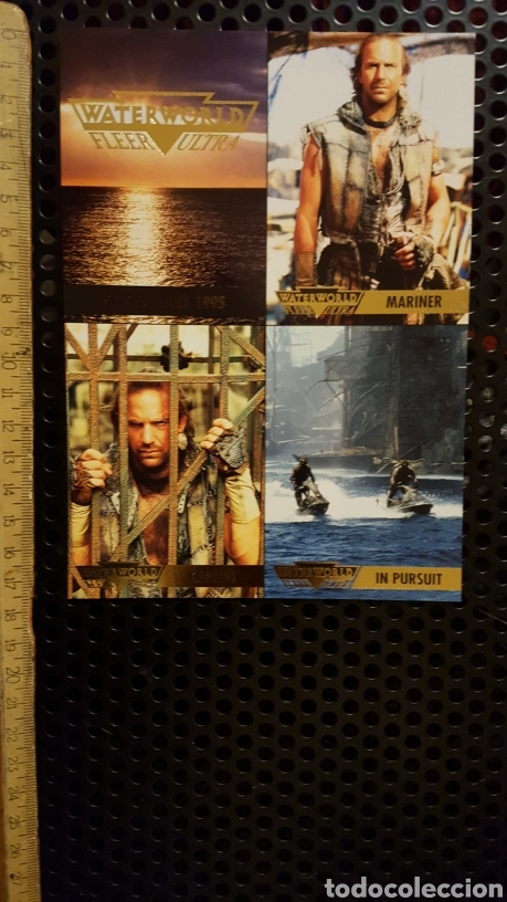 Trading Cards: Trading card - Waterworld Fleer Ultra - uncut sheet - Promo - 1995 - Kevin Costner - Foto 1 - 186179046
