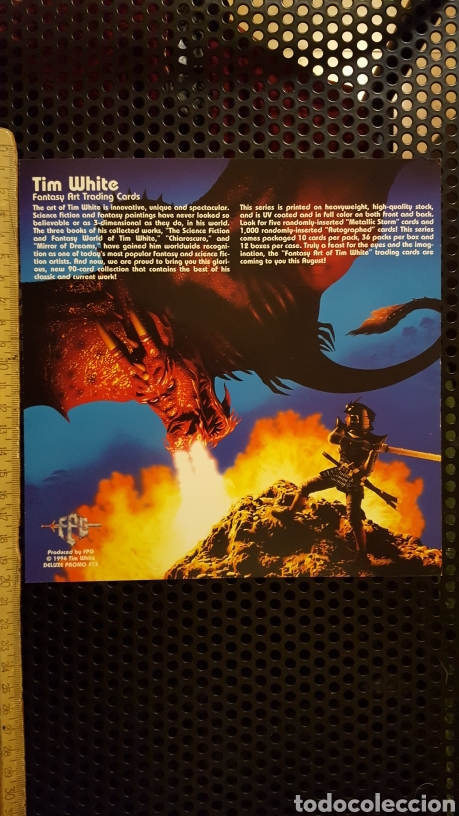 Trading Cards: Trading card - Tim White Fantasy art trading cards - promo sheet - FPG - 1994 - Foto 2 - 186180382