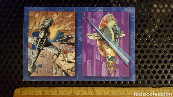 TRADING CARDS - STAR WARS VEHICLES - TOPPS - 1997 - TOP COW - HOJA PROMOCIONAL (Coleccionismo - Cromos y Álbumes - Trading Cards)