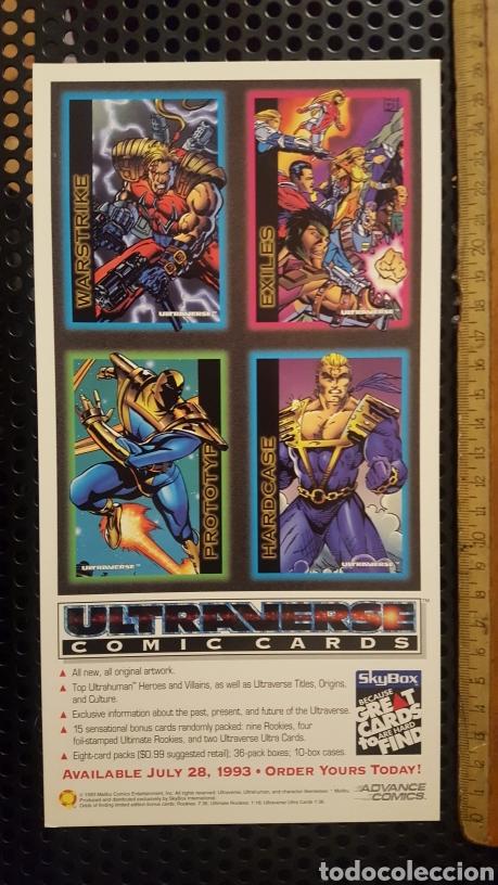TRADING CARDS - ULTRAVERSE - UNCUT SHEET - PROMO - SKYBOX - 1993 - HOJA PROMOCIONAL (Coleccionismo - Cromos y Álbumes - Trading Cards)