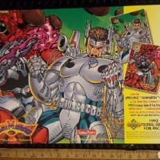 Trading Cards: TRADING CARD - FANIMATION - PROMO SHEET - UPPER DECK 1992 - JIM LEE & ROB LIEFELD. Lote 186224758