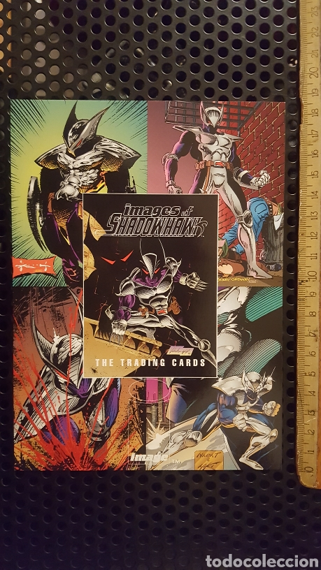 TRADING CARD - IMAGES OF SHADOWHAWK - UNCUT SHEET - IMAGE COMICS - ADVANCE COMICS (Coleccionismo - Cromos y Álbumes - Trading Cards)