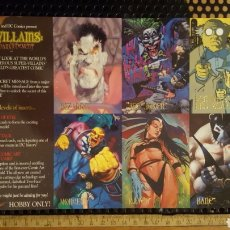 Trading Cards: TRADING CARDS - DC VILLAINS THE DARK JUDGEMENT - UNCUT PROMO SHEET - 1995 SKYBOX. Lote 186264247
