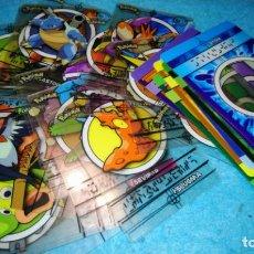 Trading Cards: LOTE DE 36 POKEMON MAGIC MESSAGE CARDS MERLIN STICKERS CON RARAS ECT. Lote 186360512