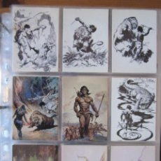 Trading Cards: FRANK FRAZETTA – TRADING CARD SERIE II – THE LEGEND CONTINUES + PROMOS + ESPECIALES + POSTER. Lote 188492993