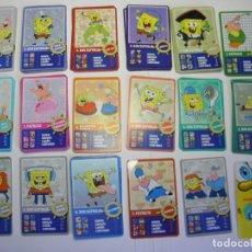 Trading Cards: CROMOS CARD CARTAS BOB ESPONJA EL CORTE INGLES. Lote 189633540
