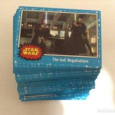 Trading Cards: SET COMPLETO 110 CARTAS BÁSICAS STAR WARS CAMINO AL ASCENSO DE SKYWALKER PARALELO AZUL JOURNEY RISE. Lote 191003933