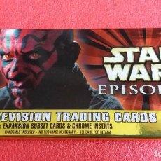Trading Cards: BOOSTER PACK SOBRE 8 WIDEVISION TRADING CARDS STAR WARS . LA AMENAZA FANTASMA. 1999. SIN ABRIR.. Lote 191934976