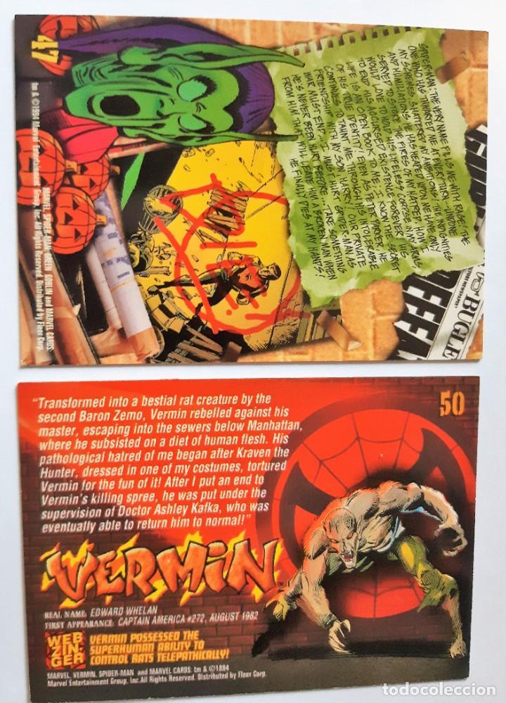 Trading Cards: LOTE 2 CROMOS/CARDS SPIDERMAN ORIGINAL MARVEL 1994 - Foto 2 - 192842871