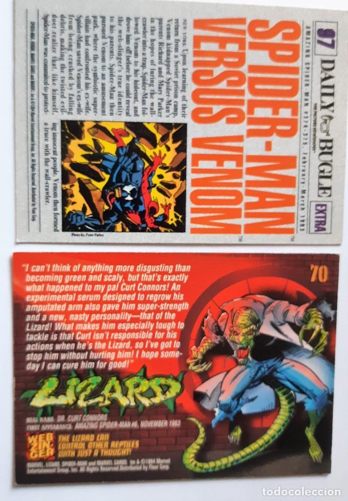Trading Cards: LOTE 2 CROMOS/CARDS SPIDERMAN ORIGINAL MARVEL 1994 - Foto 2 - 192843475