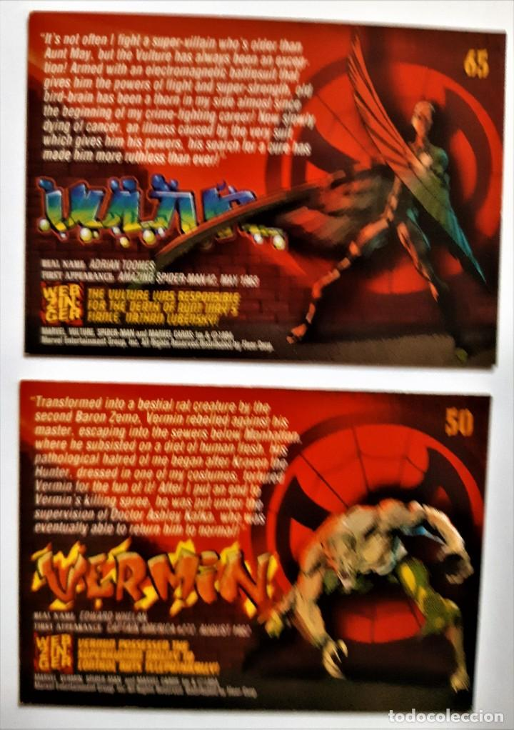 Trading Cards: LOTE 2 CROMOS/CARDS SPIDERMAN ORIGINAL MARVEL 1994 - Foto 2 - 192844411