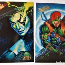 Trading Cards: LOTE 2 CROMOS/CARDS SPIDERMAN FLEER ULTRA ORIGINAL MARVEL 1995. Lote 192858371