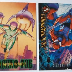 Trading Cards: LOTE 2 CROMOS/CARDS SPIDERMAN PREMIUN ORIGINAL MARVEL 1996. Lote 192933140