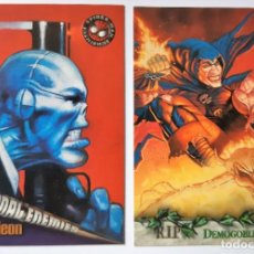 Trading Cards: LOTE 2 CROMOS/CARDS SPIDERMAN PREMIUN ORIGINAL MARVEL 1996. Lote 192933665