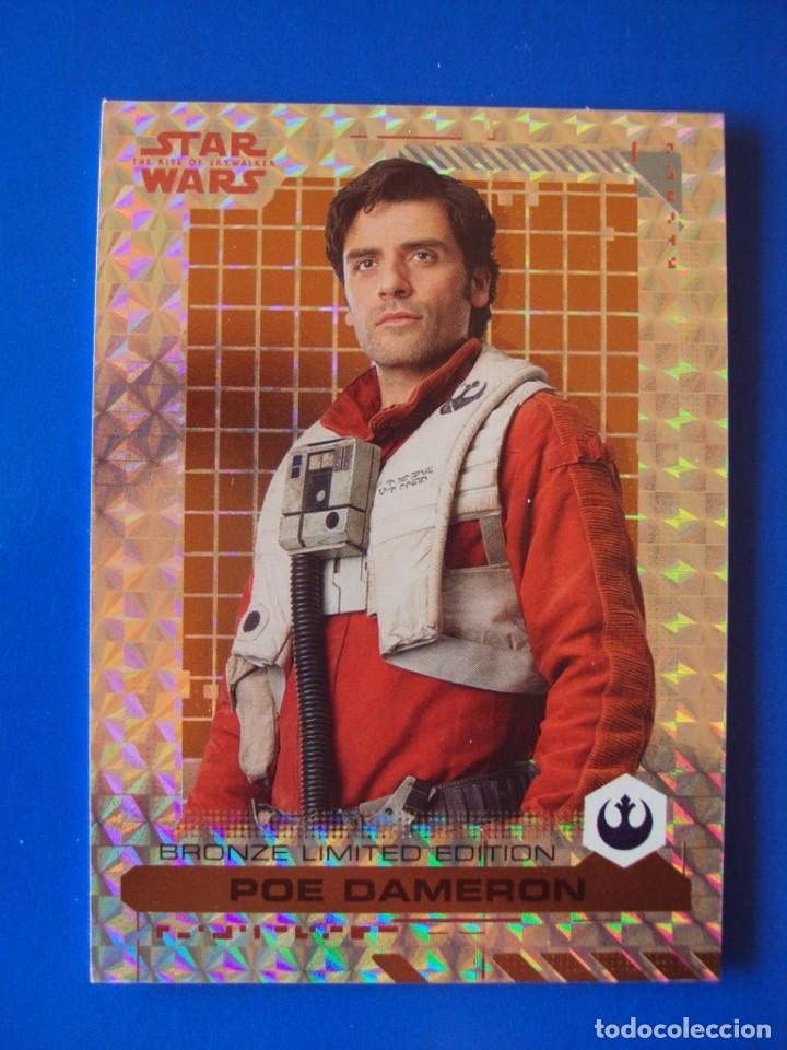 STAR WARS EL ASCENSO DE SKYWALKER EDICIÓN LIMITADA POE DAMERON TOPPS TRADING CARD NUEVA (Coleccionismo - Cromos y Álbumes - Trading Cards)