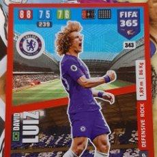 Trading Cards: CARD PANINI FIFA 365 DAVID LUIZ DEFENSIVE ROCK CHELSEA. Lote 194968618