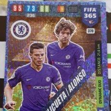 Trading Cards: CARD PANINI FIFA 365 AZPILICUETA ALONSO DYNAMIC DUO CHELSEA. Lote 194968688