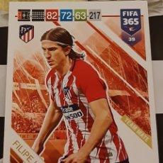 Trading Cards: CARD PANINI FIFA 365 FILIPE LUIS ATLETICO DE MADRID. Lote 194970023