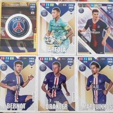 Trading Cards: LOTE 6 CARDS PANINI FIFA 365 PARIS SAINT GERMAIN PSG BERNAT AREOLA ESCUDO. Lote 194988153
