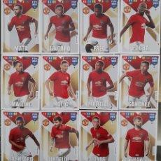 Trading Cards: LOTE 12 CARDS PANINI FIFA 365 MANCHESTER UNITED MATA FRED LINGARD POGBA SHAW. Lote 194990095
