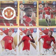 Trading Cards: LOTE 6 CARDS PANINI FIFA 365 MANCHESTER UNITED ESCUDO POGBA DALOT MATIC. Lote 194990143