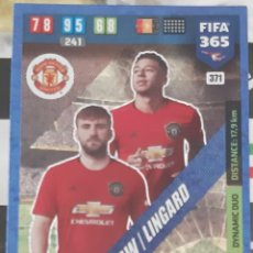 Trading Cards: CARD PANINI FIFA 365 SHAW LINGARD DYNAMIC DUO MANCHESTER UNITED. Lote 194990358
