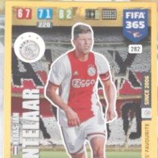Trading Cards: CARD PANINI FIFA 365 KLAAS-JAN HUNTELAAR FANS FAVOURITE AJAX. Lote 194990397