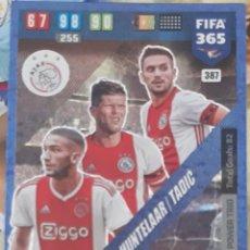 Trading Cards: CARD PANINI FIFA 365 ZIYECH HUNTELAAR TADIC POWER TRIO AJAX. Lote 194990511