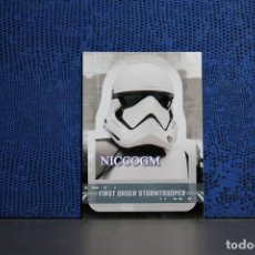 Trading Cards: CS 13 FIRST ORDER STORMTROOPER STAR WARS THE RISE OF SKYWALKER TOPPS STICKER CARD . Lote 195221448