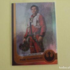 Trading Cards: POE DAMERON. GOLD LIMITED EDITION. STAR WARS. THE RISE OF SKYWALKER. Lote 195426933