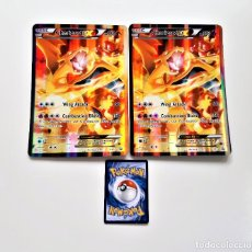 Trading Cards: DOS POKEMON CHARIZARD EX XY121 HOLOGRAFICAS (14.5 X 20.5.CM LA DEL MEDIO ES REFERENCIA DE LA NORMAL). Lote 197347888