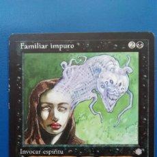 Trading Cards: FAMILIAR IMPURO, ERA GLACIAL 1996, CARTAS MAGIC - POSIBILIDAD DE ENTREGA EN MANO EN MADRID. Lote 198521382