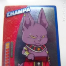 Trading Cards: DRAGON BALL SUPER PANINI 2019 - CHAMPA. Lote 199531110