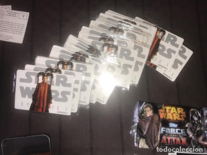Trading Cards: 310 cromos y fichas de varias colecciones con un archivador y una lata STAR WARS ... ZKR - Foto 3 - 200887575