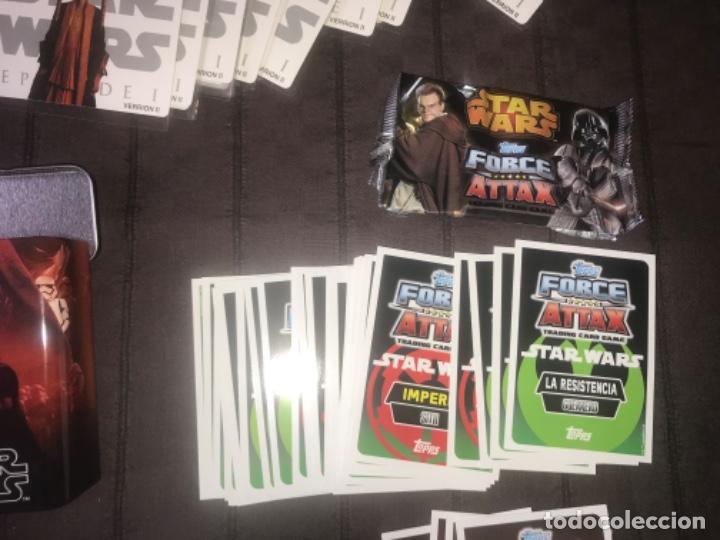 Trading Cards: 310 cromos y fichas de varias colecciones con un archivador y una lata STAR WARS ... ZKR - Foto 4 - 200887575
